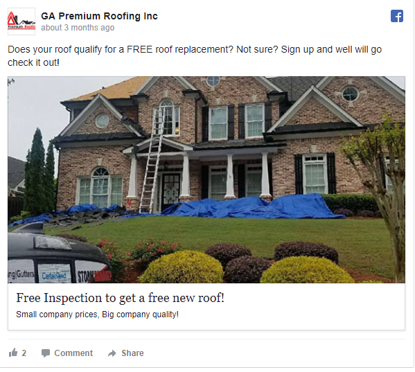 Roofing Facebook Ads